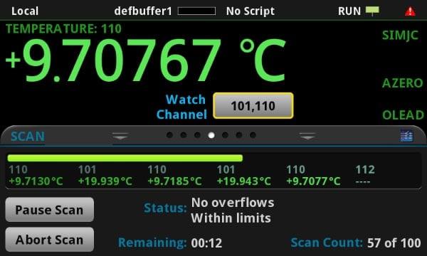 Измерение температуры с помощью мультиметра Keithley DMM6500