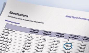 Характеристики цифровых осциллографов (время нарастания)