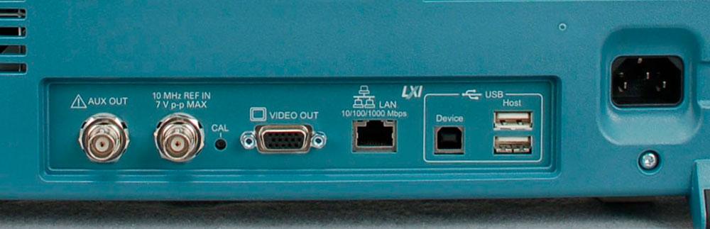 Основные интерфейсы подключения осциллографа: GPIB, RS-232, Ethernet, LXI