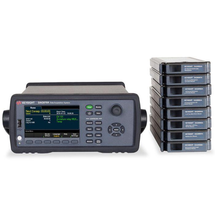 Система сбора данный Keysight DAQ970A с модулями