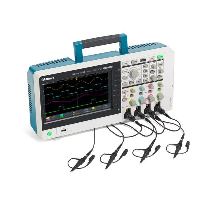 4-х канальный осциллограф TBS2074, TPS2104 с пассивными пробниками