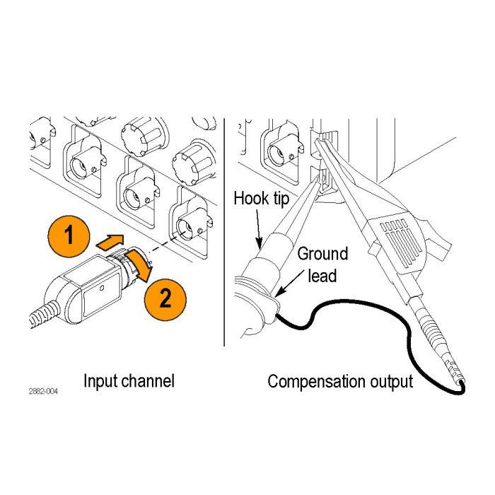 Подключение и компенсация пробника P5100A и P5150