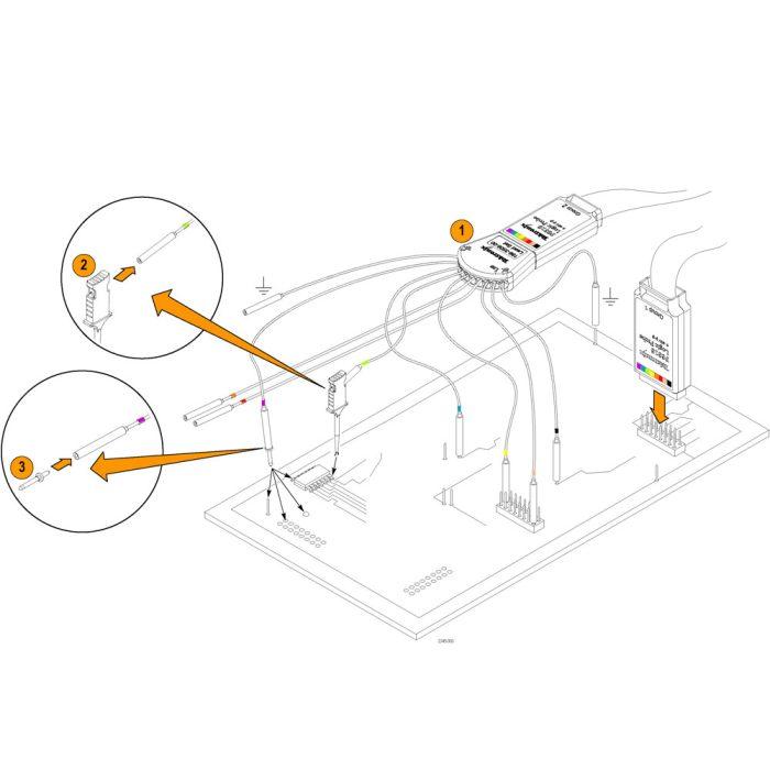 Подключение пробника P6316 к ИУ