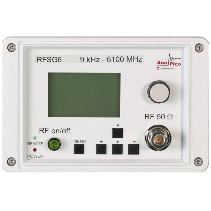 Передняя панель генератора RFSG6