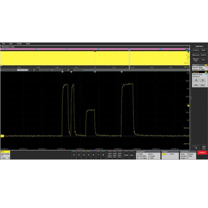 Tektronix 5-RL-125M работа с длинной памятью